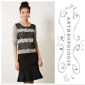 Knitted & Knotted Lace Ruled Cardigan